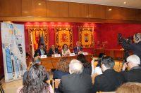 Rueda de prensa para la firma del convenio entre Ayuntamiento y Universidad de Murcia