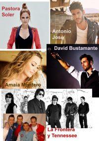 Cartel con los cantantes