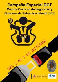 Cartel Campaña Cinturón Septiembre POLICIA CEHEGIN