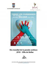 Cartel Día mundial de la parada cardíaca 2018